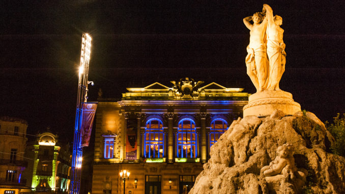 Montpellier: Nachts auf der Place de la Comédie