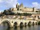 Blick auf Béziers vom Pont Roman. Foto: Hilke Maunder
