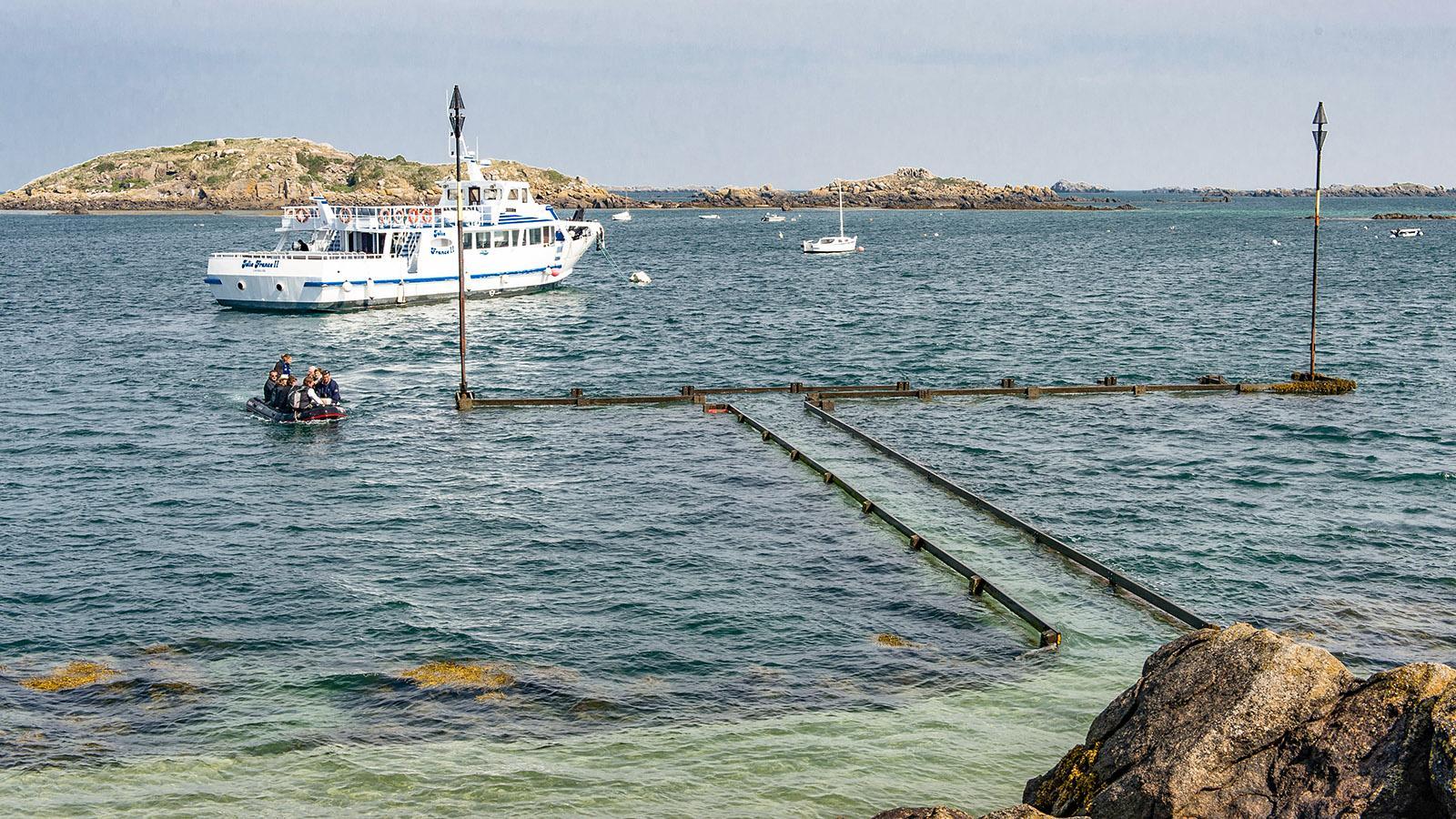 Der Hafen von Grande-Île der Îles Chausey. Foto: Hilke Maunder