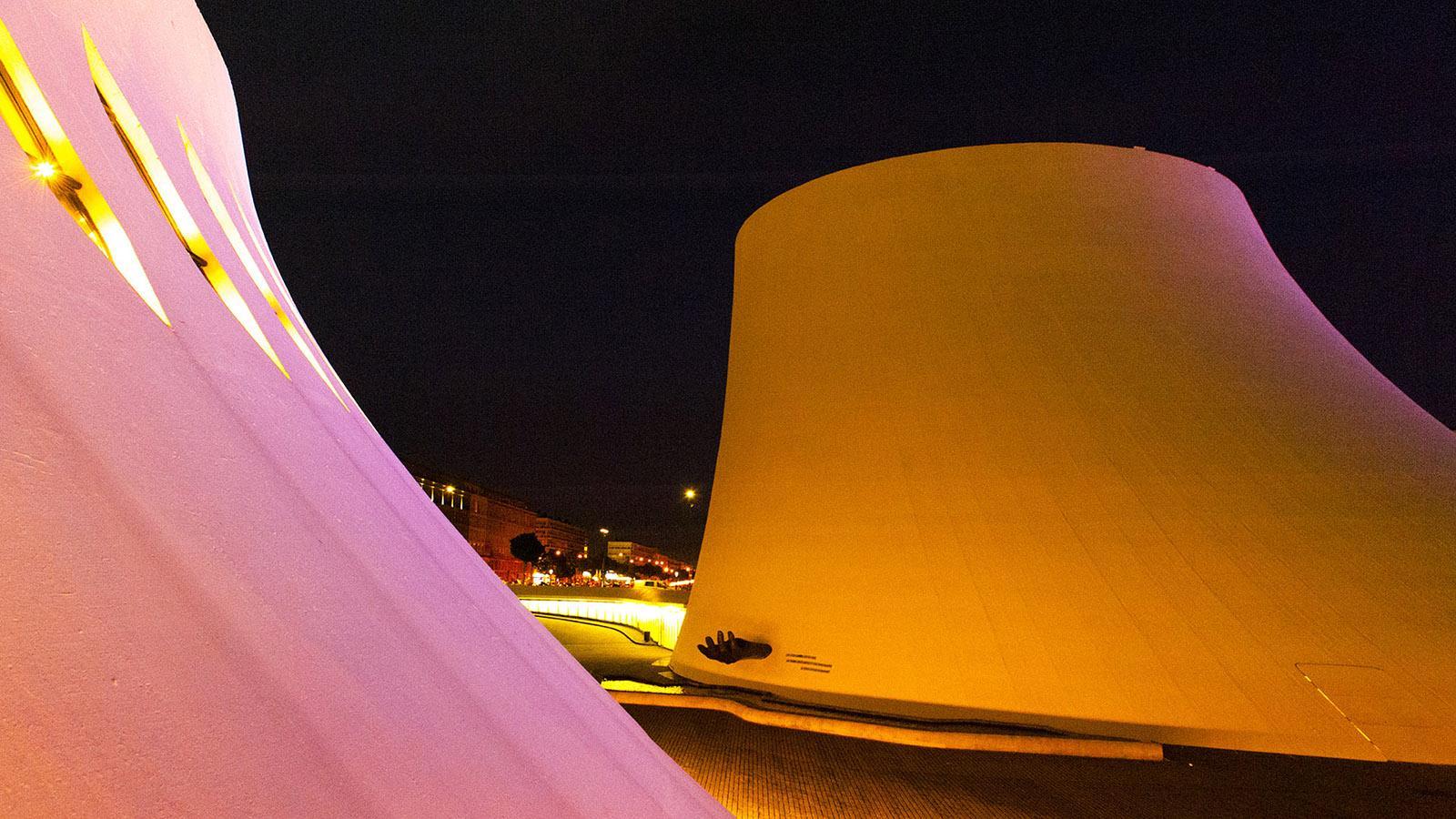Die Vulkane bei Nacht. Foto: Hilke Maunder