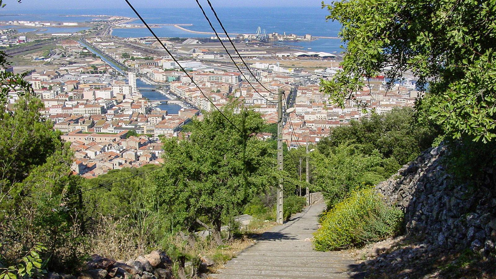 Sète: Blick vom Mont Saint-Clair auf die Stadt. Foto: Hilke Maunder