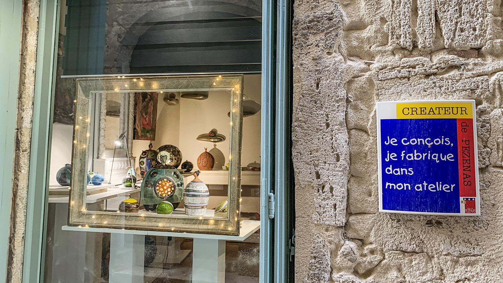 Pézenas: Studioladen eines Kreativen. Foto: Hilke Maunder
