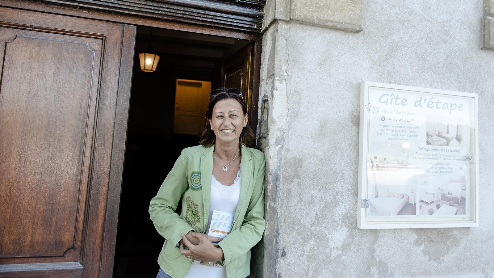 Bourg Saint-Andéol: Valérie Leymarie hat in ihrem alten Stadtpalais trendige moderne Gästezimmer eingerichtet. Foto: Hilke Mander