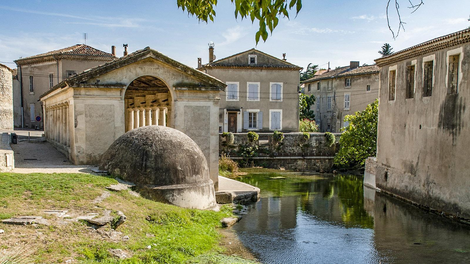 Bourg Saint-Andeol. Das Gebiet der beiden Quellen. Foto: Hilke Maunder