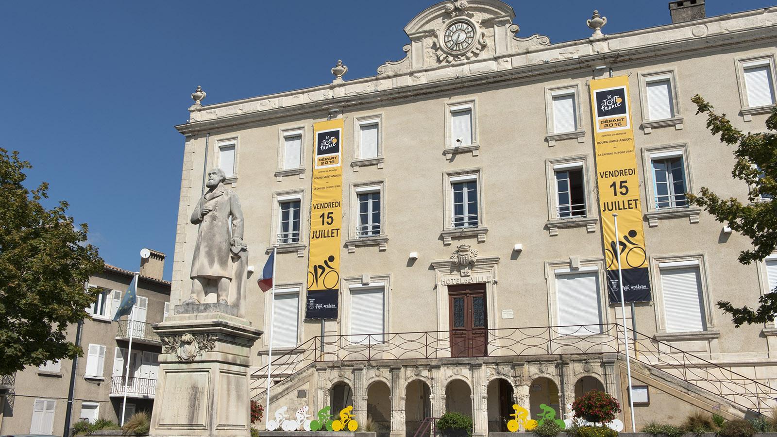 2016 startete die 13. Etappe der Tour de France in Burg Saint-Andeol. Foto: Hilke Maunder