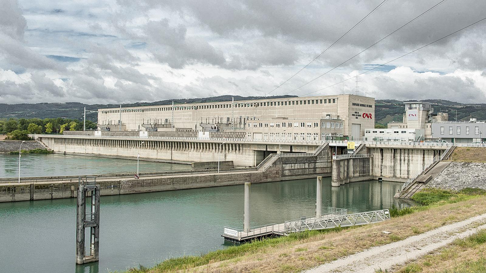Das Wasserkraftwerk von Bourg-lès-Valence. Foto: Hilke Maunder
