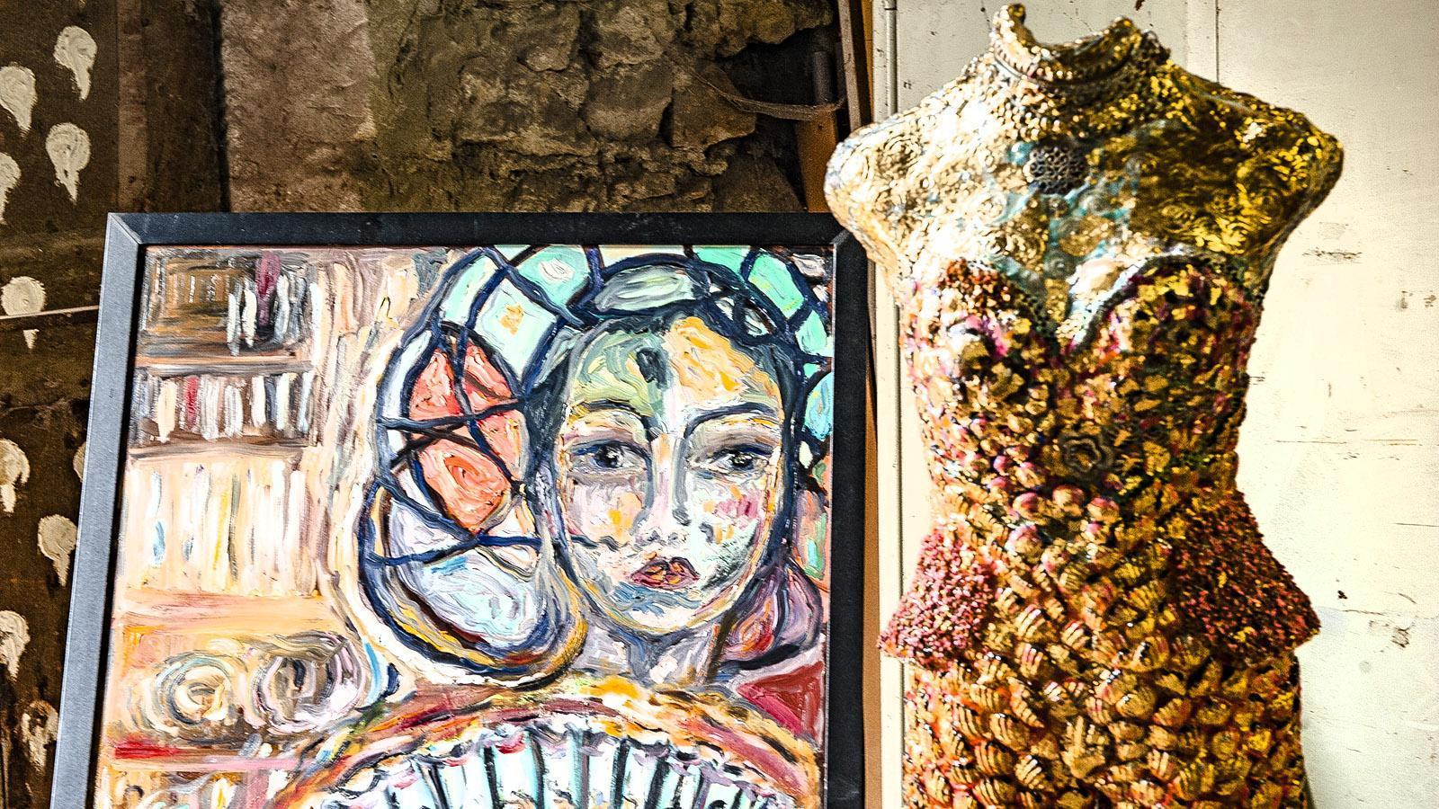 ViaRhôna: Anne Grenier arbeitet mit sehr unterschiedlichen Materialien. Foto: Hilke Maunder