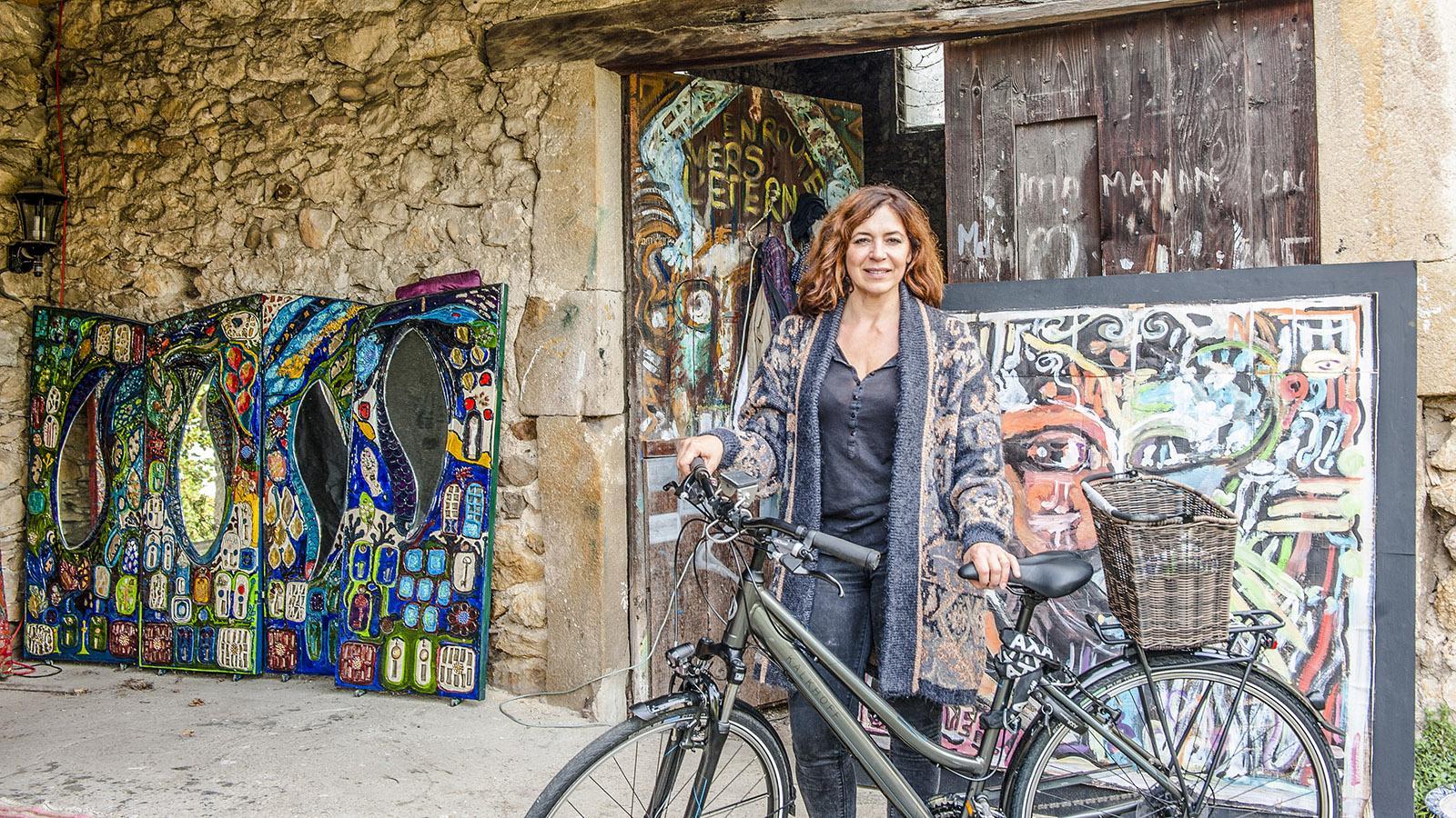 ViaRhôna: Auch Anne Grenier ist gerne mit dem Rad unterwegs. Foto: Hilke Maunder