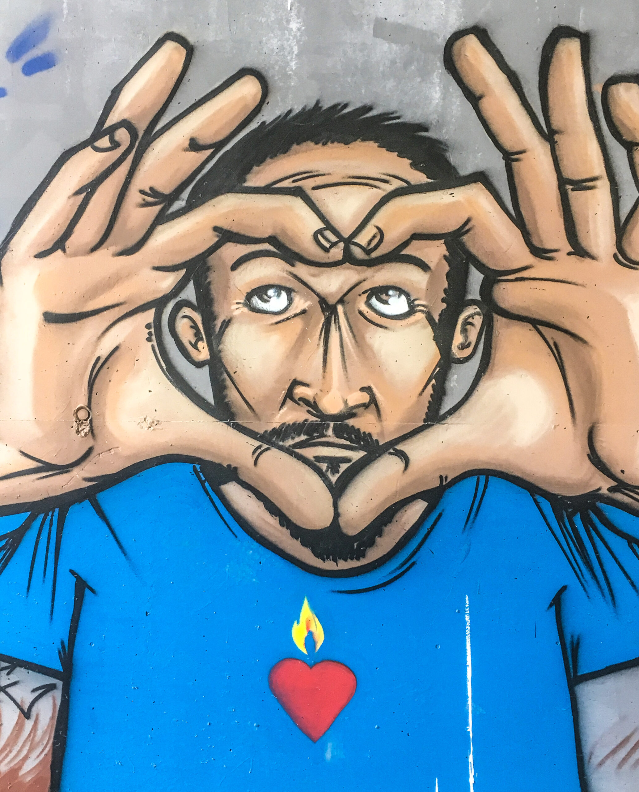 ViaRhôna, Street Art am Pont Maubeuge auf der Île Blaud. Foto: Hilke Maunder