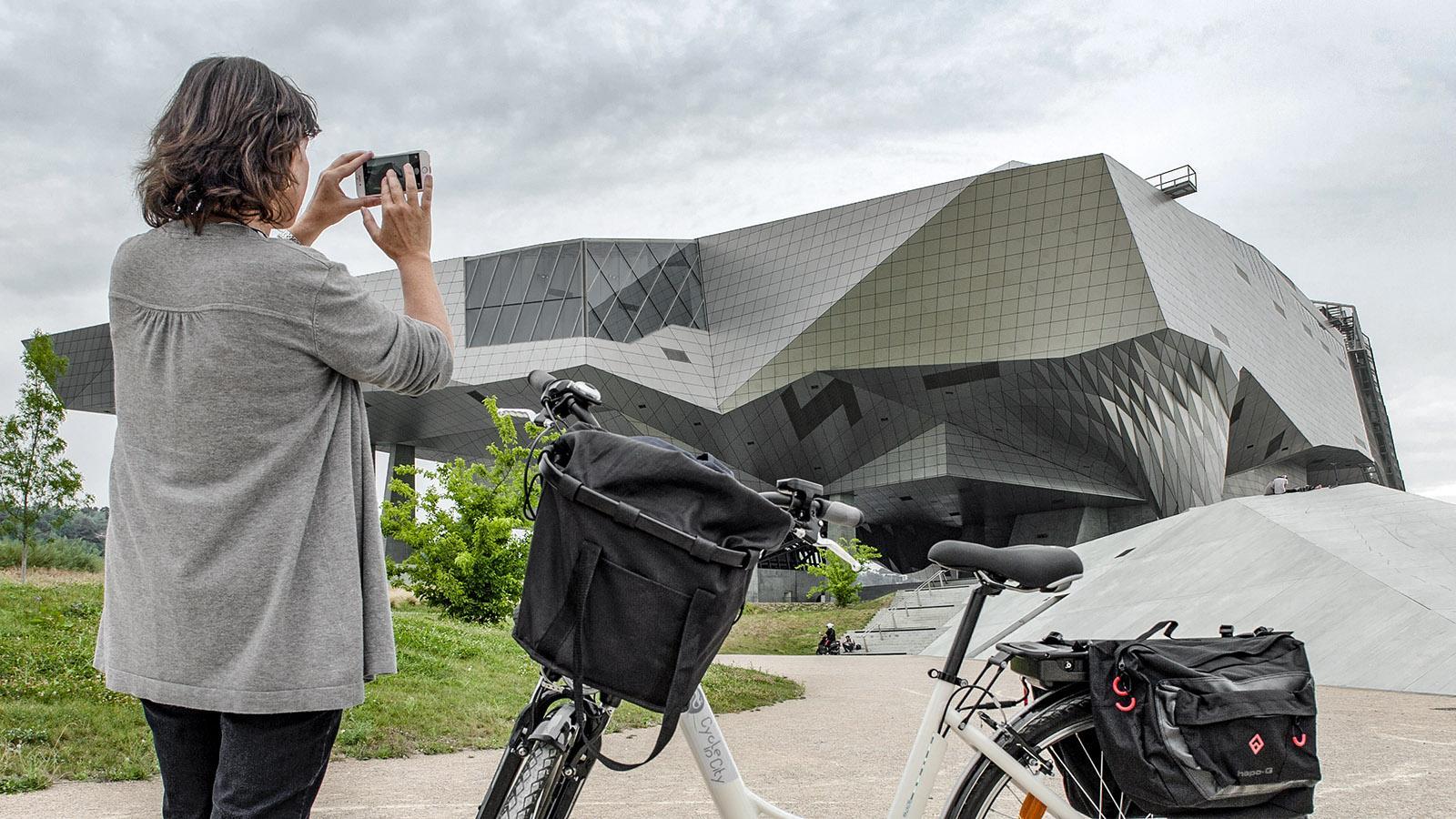 Das Museum an der Spitze der Halbinsel Confluence. Foto: Hilke Maunder