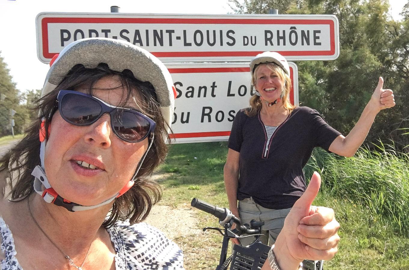 ViaRhôna: angekommen im Zielort: Port Saint-Louis-du-Rhône. Foto: Hilke Maunder