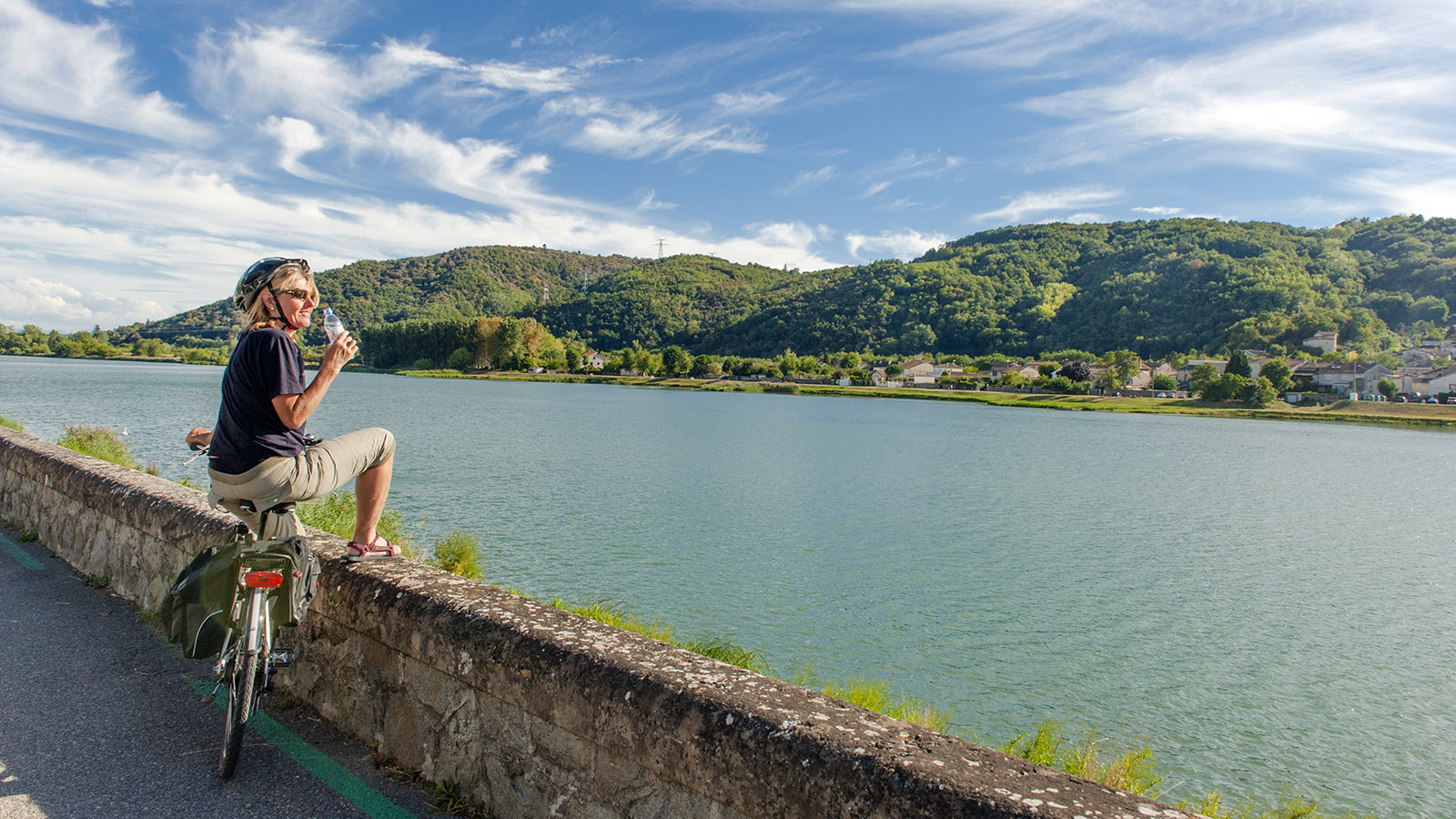 Auf der ViaRhôna an der Rhone. Foto: Hilke Maunder