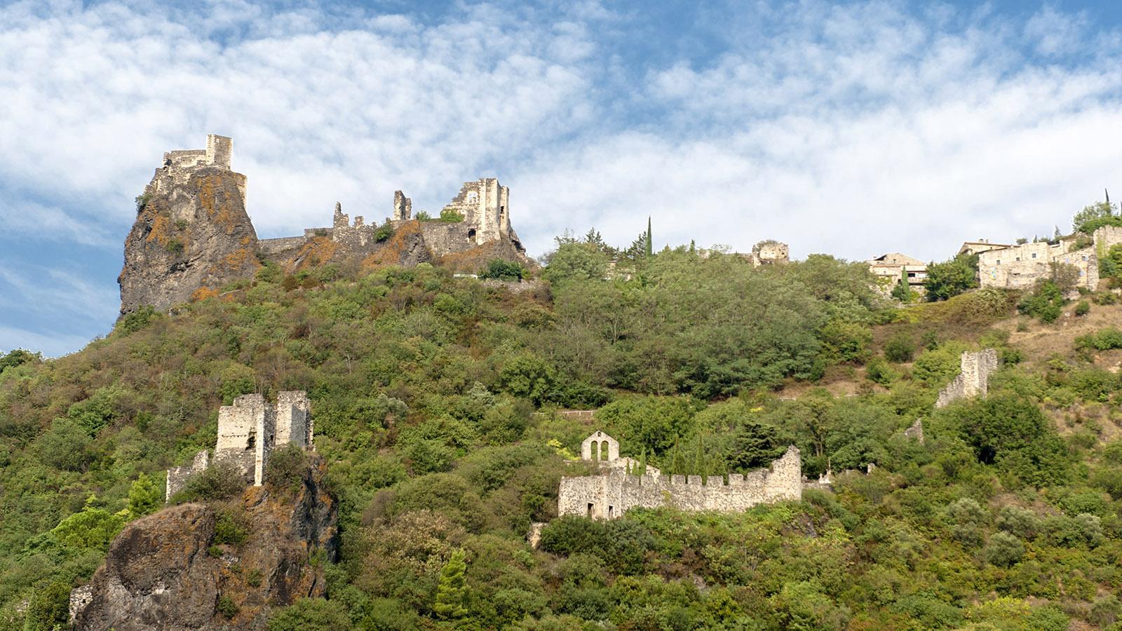 Rochemaure mit seinen mittelalterlichen Burgen. Foto: Hilke Maunder