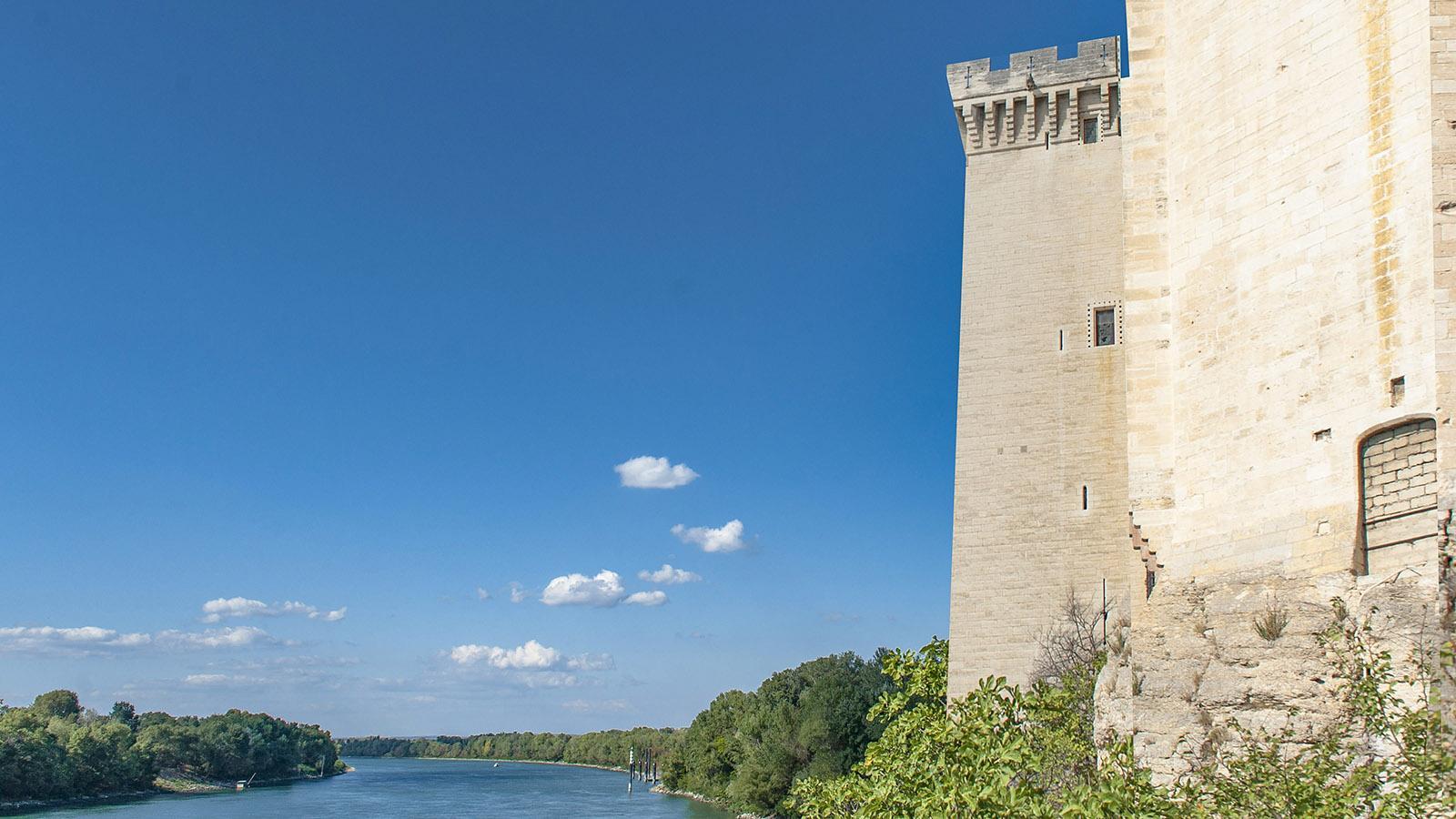 Direkt am Ufer der Rhône gelegen: das Burgschloss von Tarascon. Foto. Hilke Maunder
