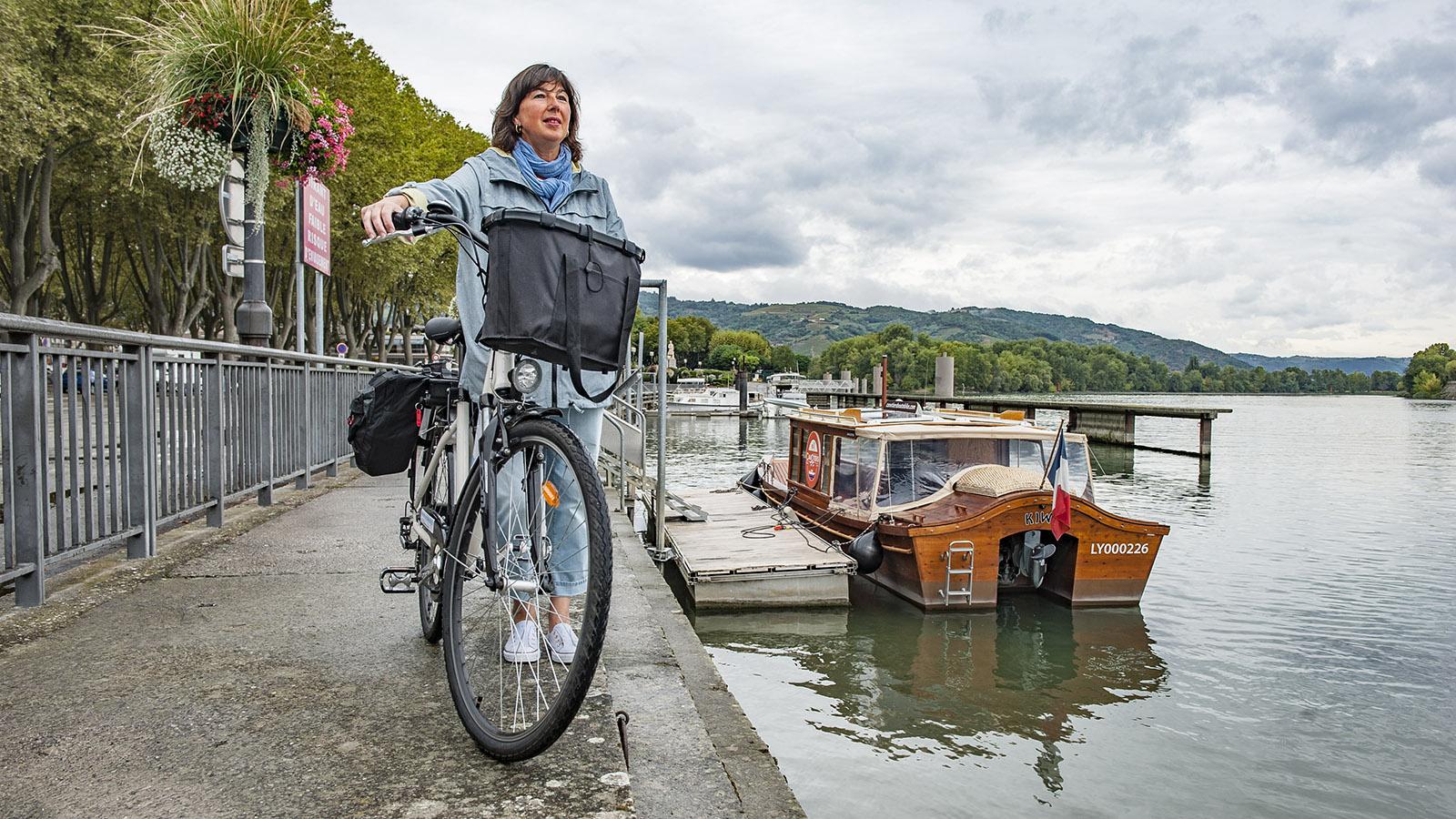 Boat & Bike in Tournon an der Rhône.Foto: Hilke Maunder