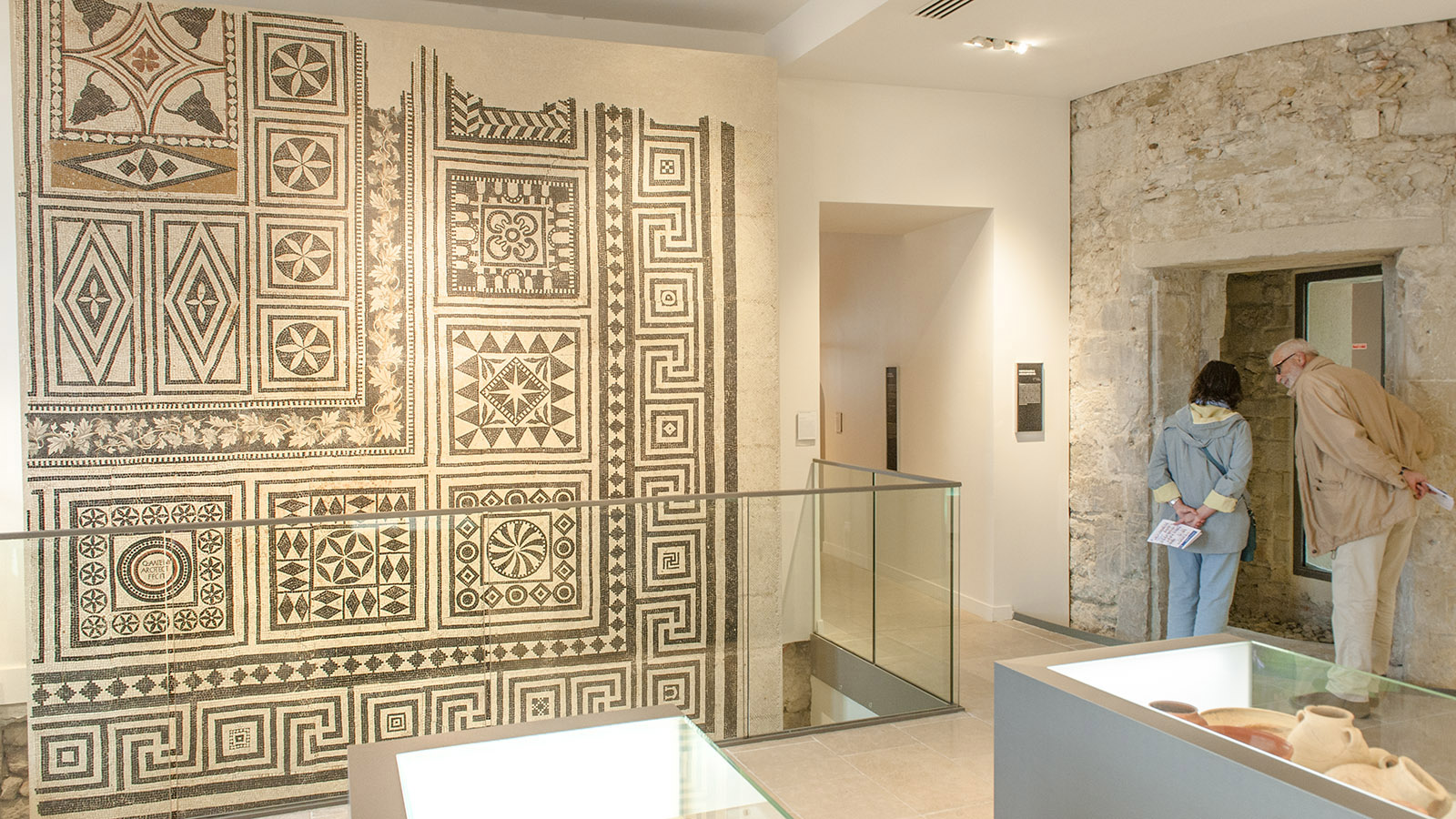 Valence, Museum, römische Mosaike, Foto: Hilke Maunder