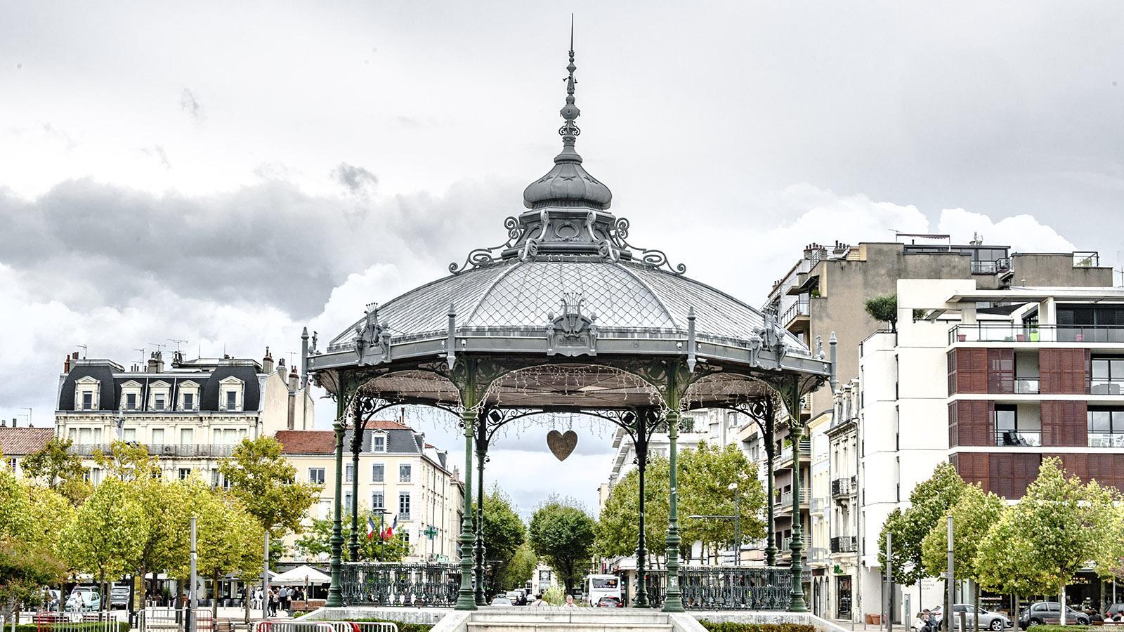 Der Musikpavillon von Valence. HIer: der Blick Richtung Stadt. Foto: Hilke Maunder