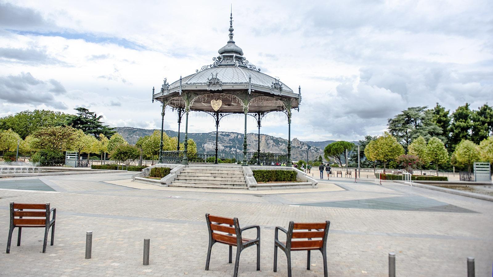 Der Musikpavillon von Valence. HIer: der Blick Richtung Rhône. Foto: Hilke Maunder