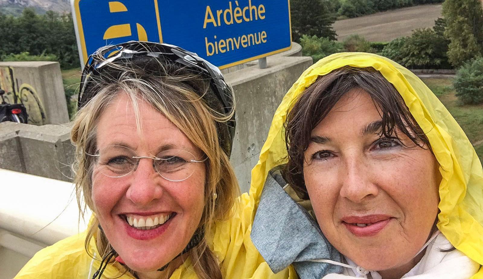 ViaRhôna, Valence, Pont Maubeuge - Grenze der Départements Ardèche und Drôme. Foto: Hilke Maunder