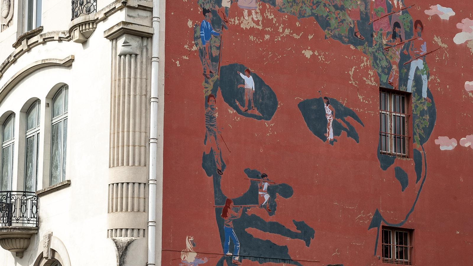 Valence, Fassade, Wandbild. Foto: Hilke Maunder