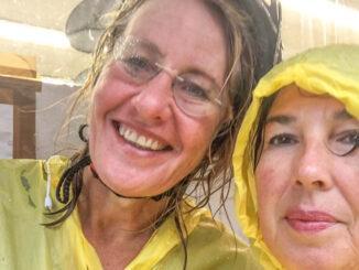 ViaRhona: Radfahren heißt… auch im Regen geht's weiter! Foto: Hilke Maunder