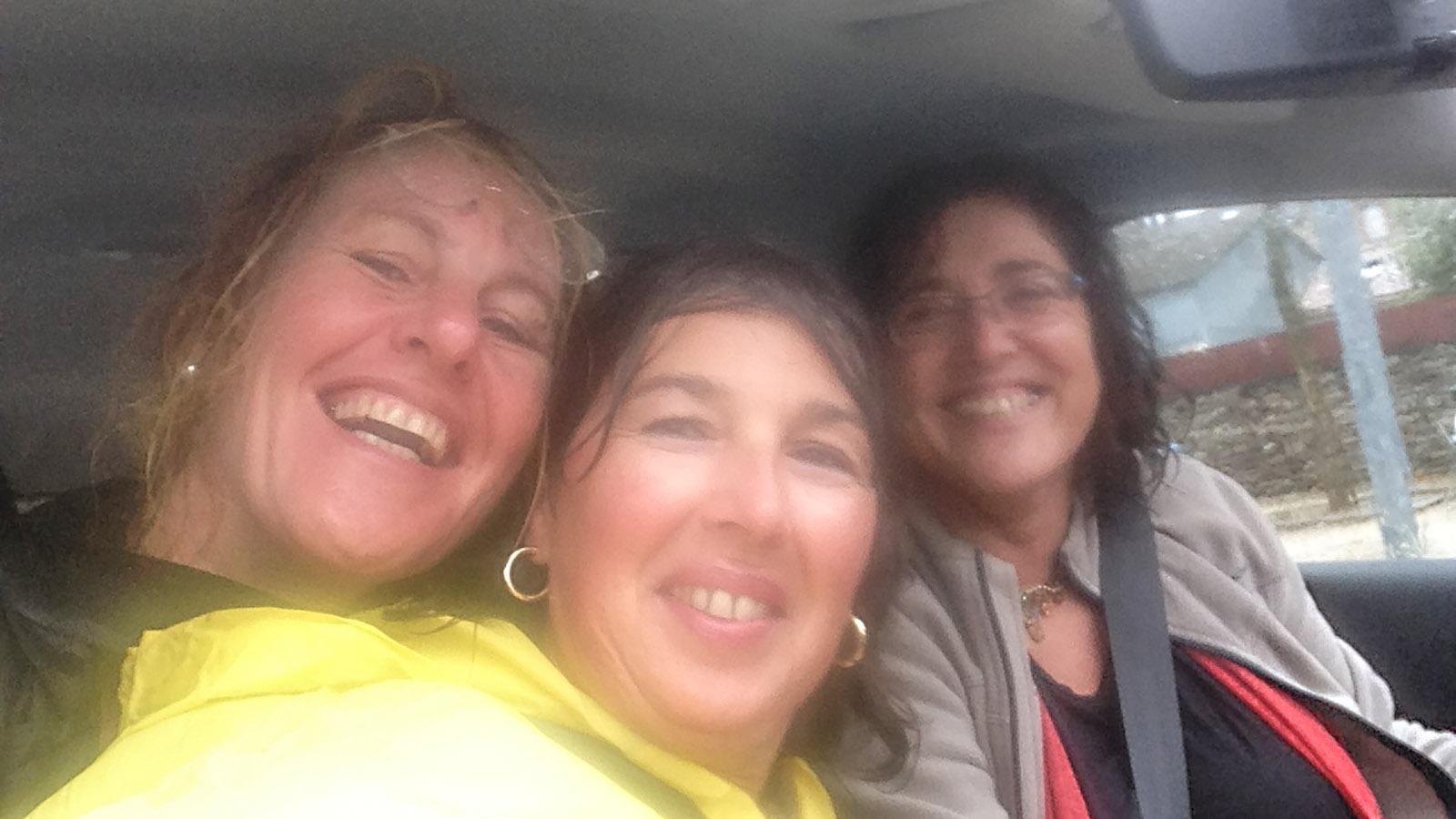 ViaRhona: Nathalie Sisteron rettete uns. Claudia und ich waren klatschnass bis auf die Haut. Foto: Hilke Maunder