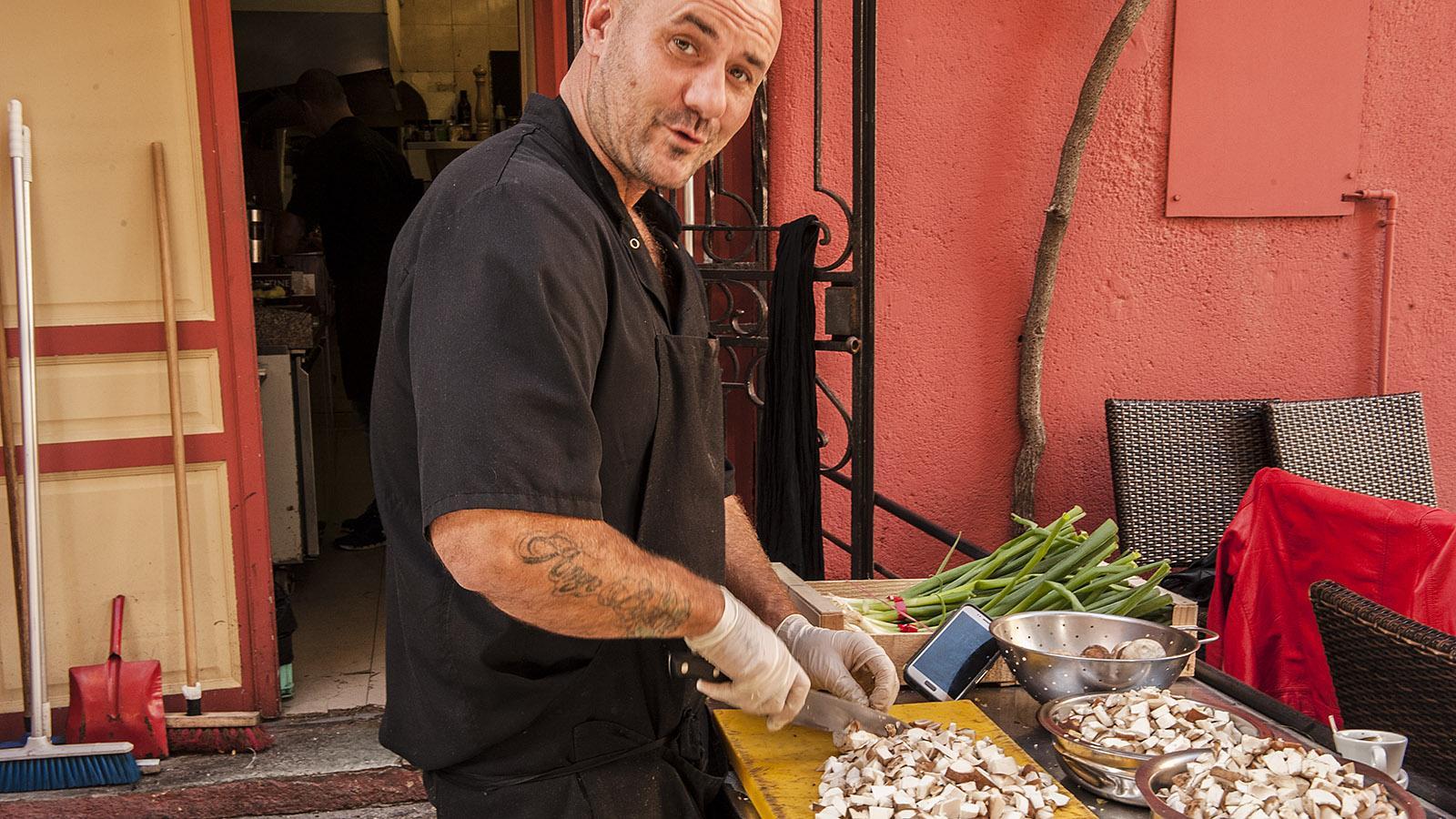 "Andy Caravel vom Restaurant ""A Casarella"" in Bastia. Foto: Hilke Maunder"