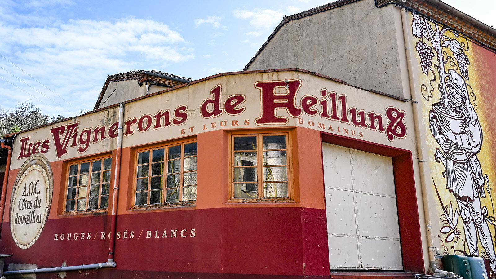 Fenouilledes: die Weinkooperative von Feilluns. Foto: Hilke Maunder