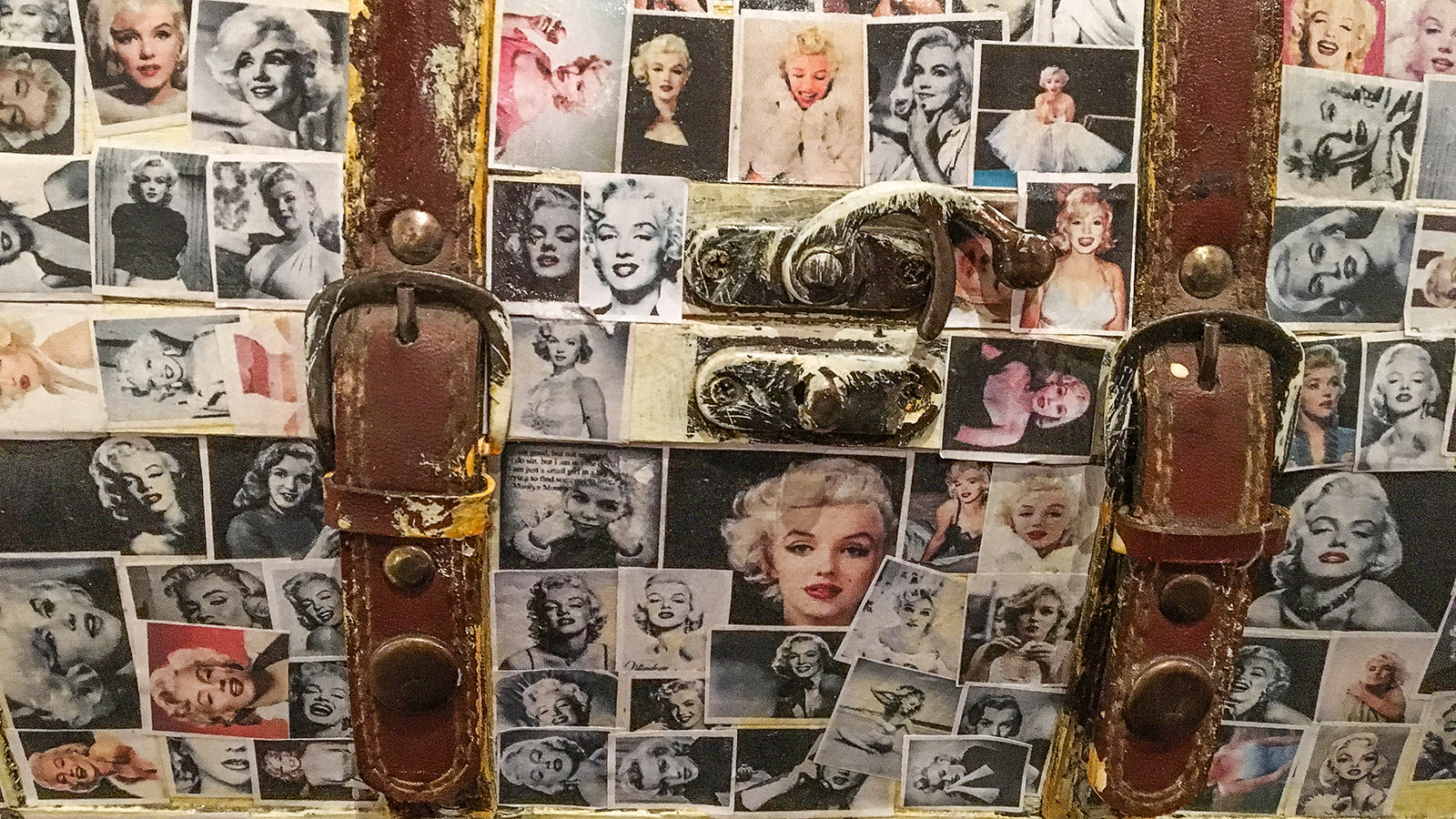Fenouillèdes: Albert Roger war fasziniert von Marilyn Monroe – und verewigt MM prompt in einer Collage. Foto: Hilke Maunder
