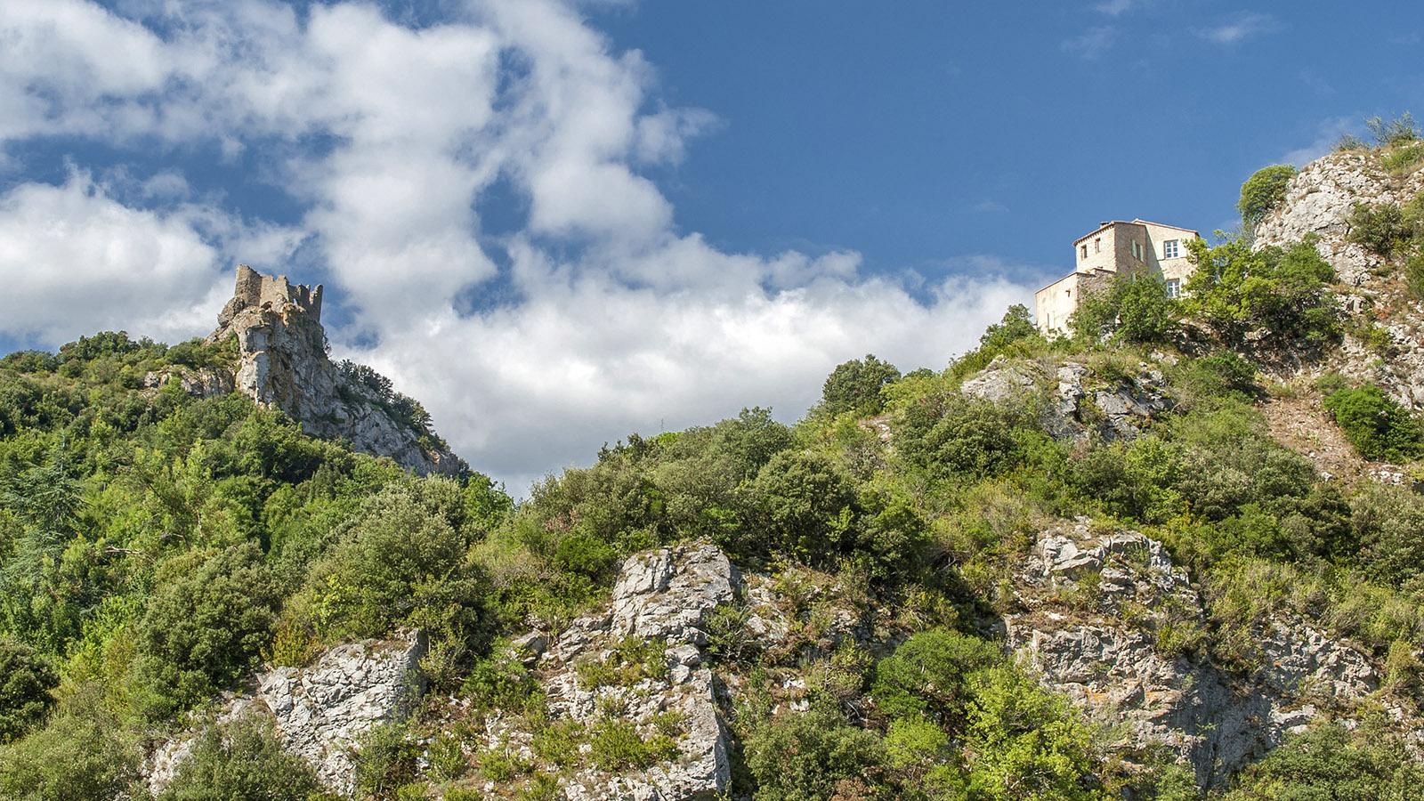 Fenouillèdes: die Burgruine des Château. Foto: Hilke Maunder