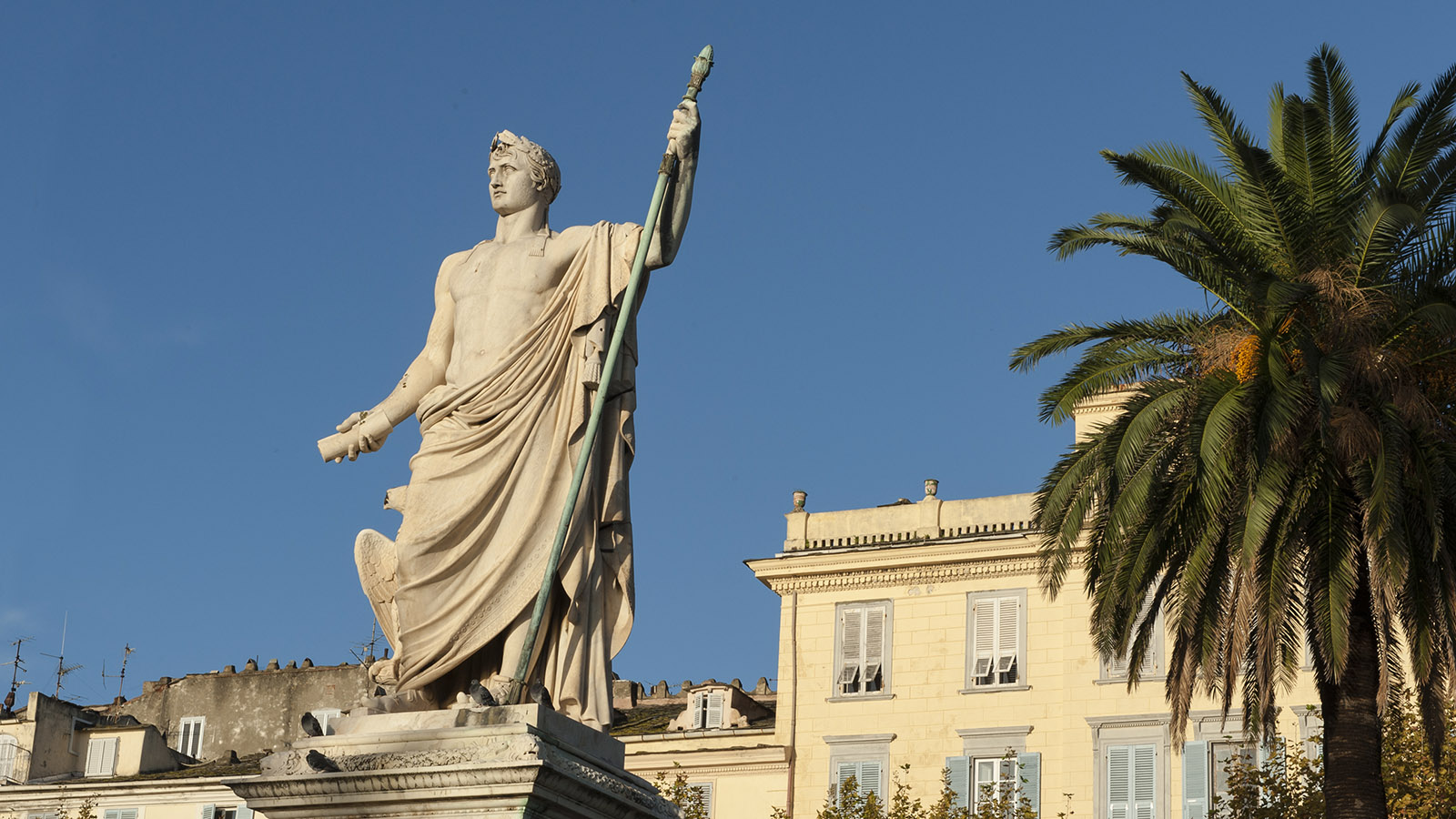 Bastia: Napoleon als römischer Imperator - das Kaiser-Denkmal