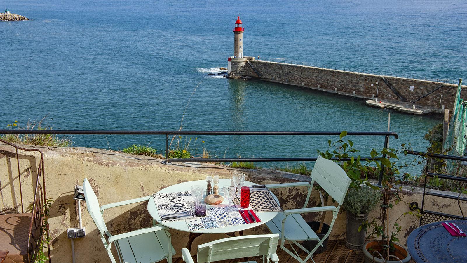 Genießen à la Bastia – direkt über dem Mittelmeer. Foto: Hilke Maunder