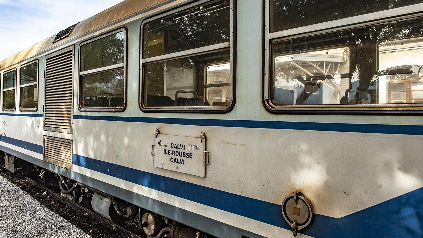 Trinighellu: Zugtafel am Waggon. Foto: Hilke Maunder