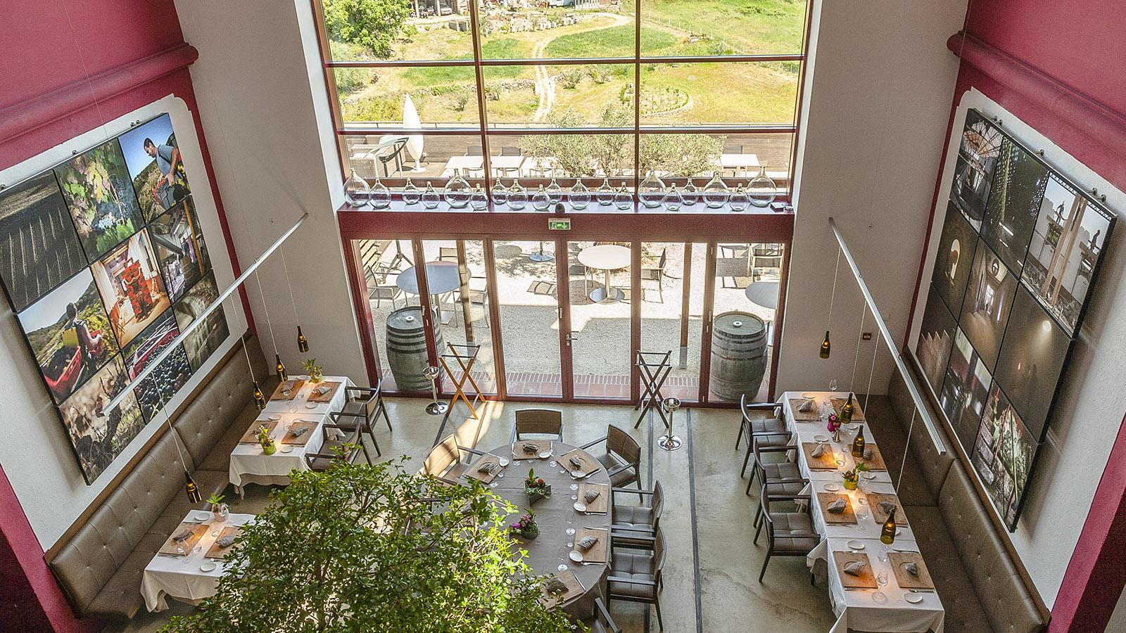 """Riberach: Das Restaurant """"La Coopérative"""" eröffnet weite Ausblicke auf die Natur ringsum. Foto: Hilke Maunder"""