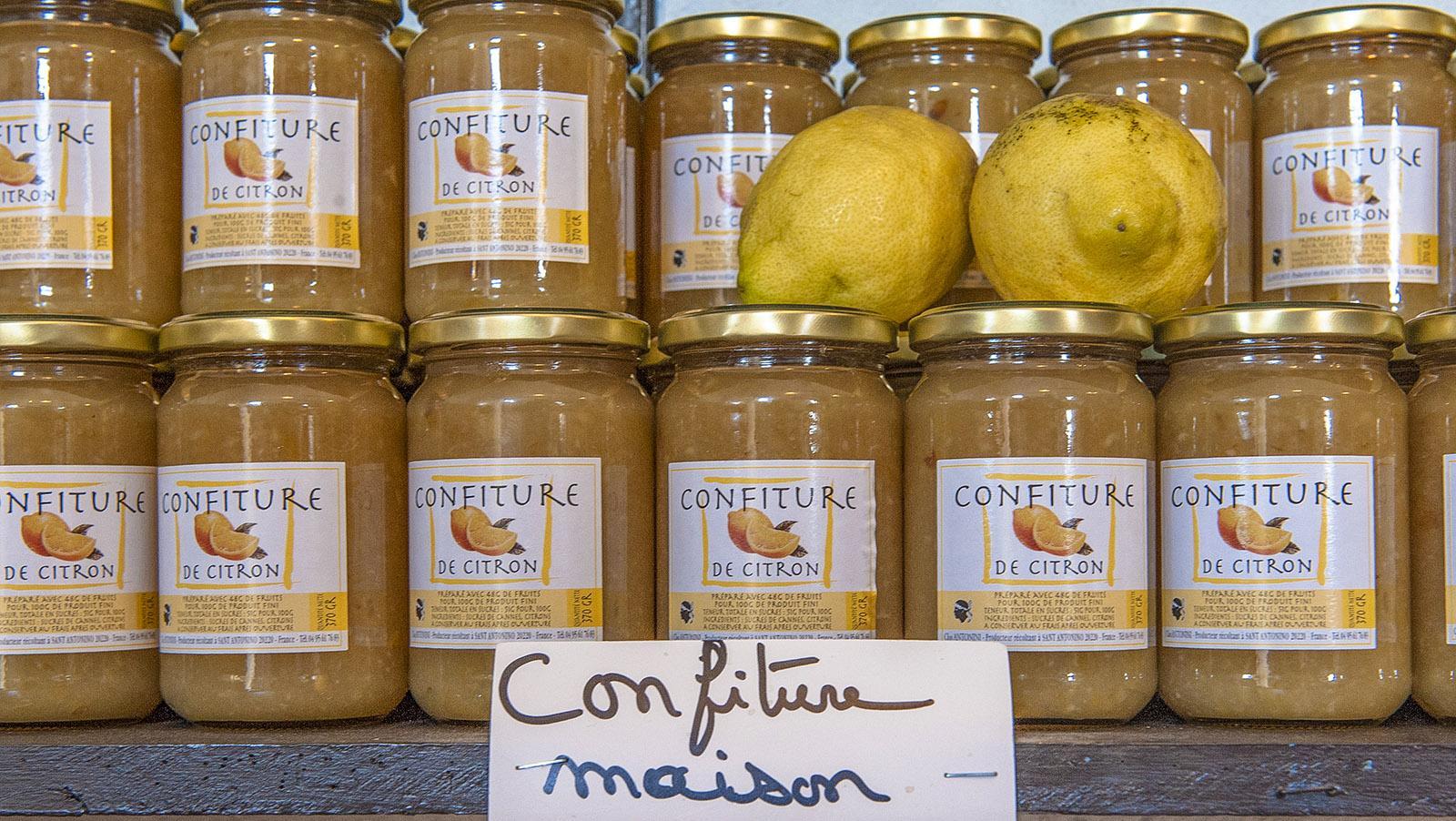 Sant'Antonino: Zitronenkonfitüre, hausgemacht vom Clos Antonini. Foto: Hilke Maunder