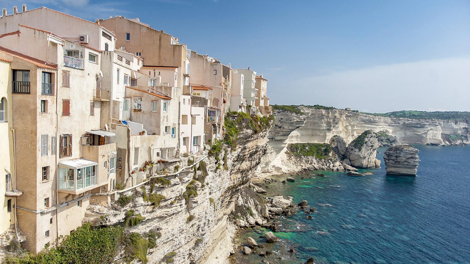 Die Altstadt von Bonifacio auf den Klippen. Foto: Hilke Maunder