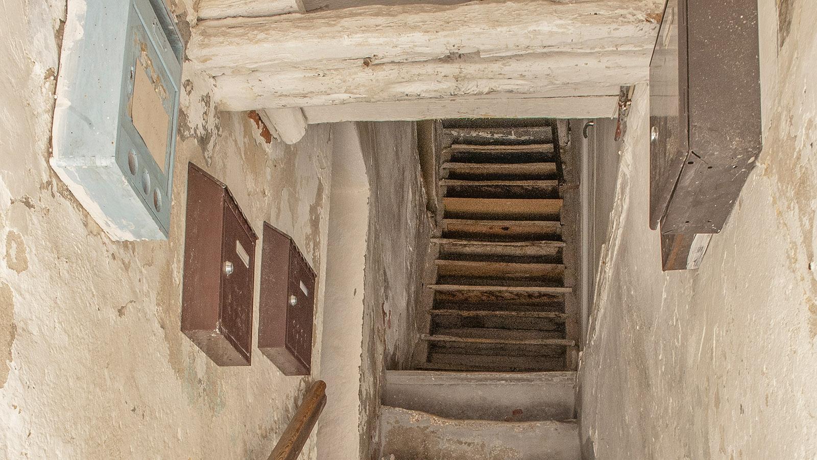 Bonifacio: Treppenhaus in der Altstadt. Foto: Hilke Maunder