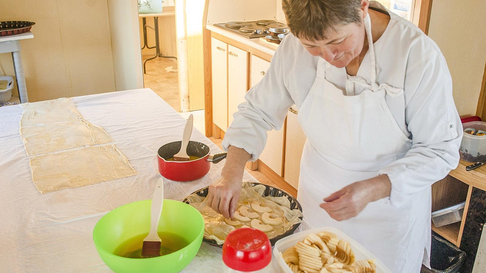 Croustade mit Äpfeln à la Isabelle Ducourneau. Foto: Hilke Maunder