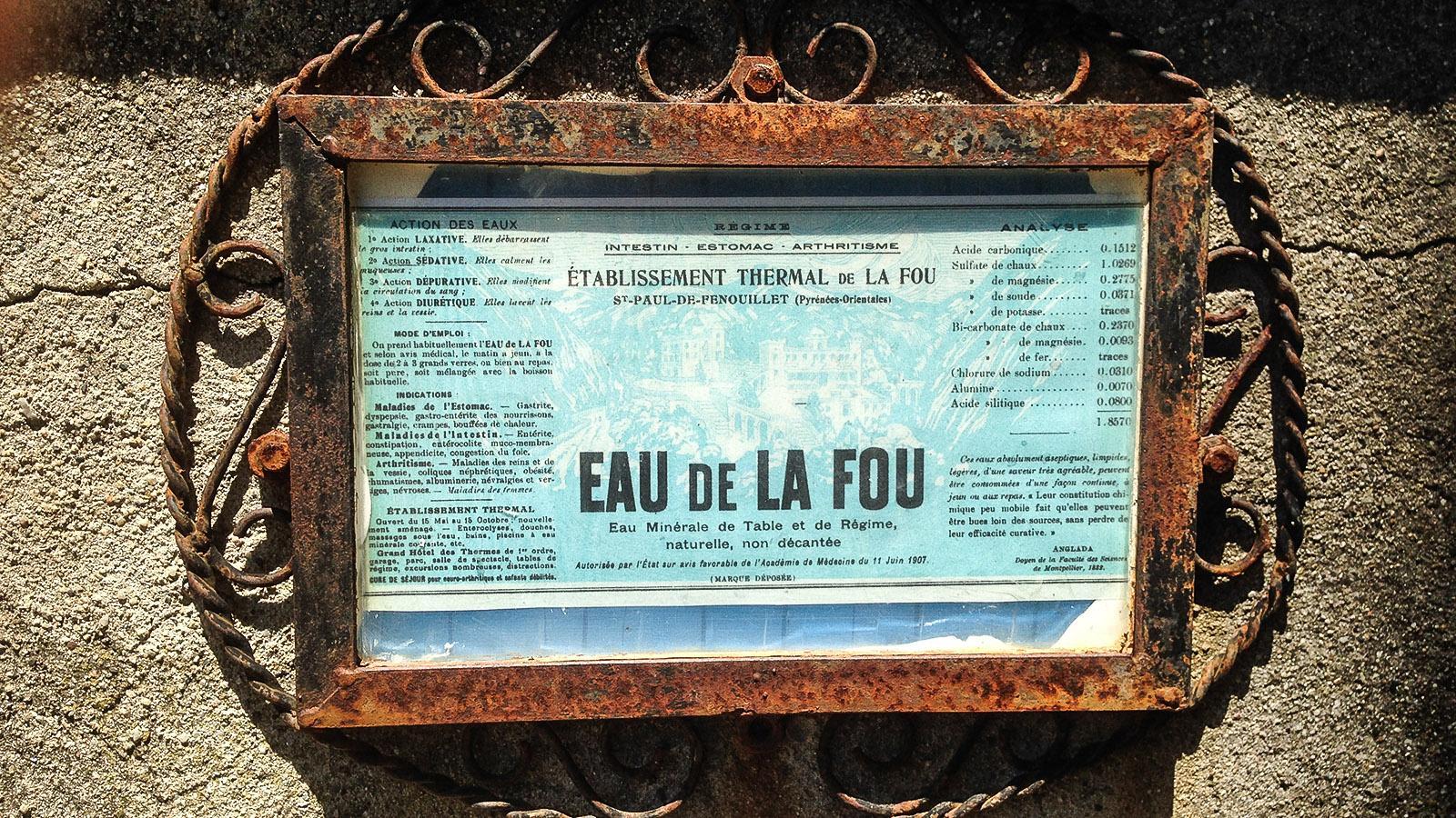 Das Thermalwasser von Saint-Paul-de-Fenouillet - so gesund ist es! Foto: Hilke Maunder