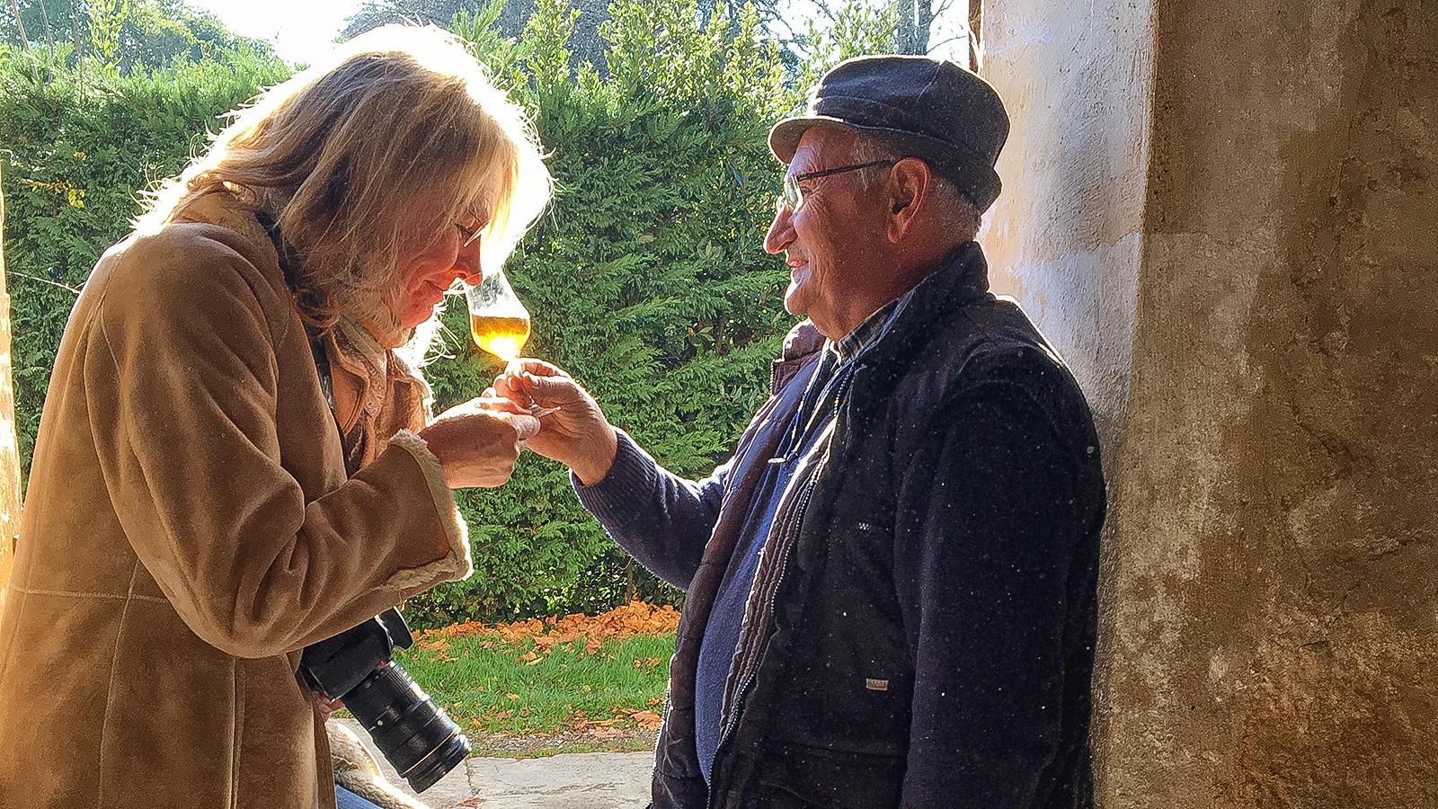 Hilke Maunder mit Francis Dèche vom Château de Millet. Foto: Hilke Maunder