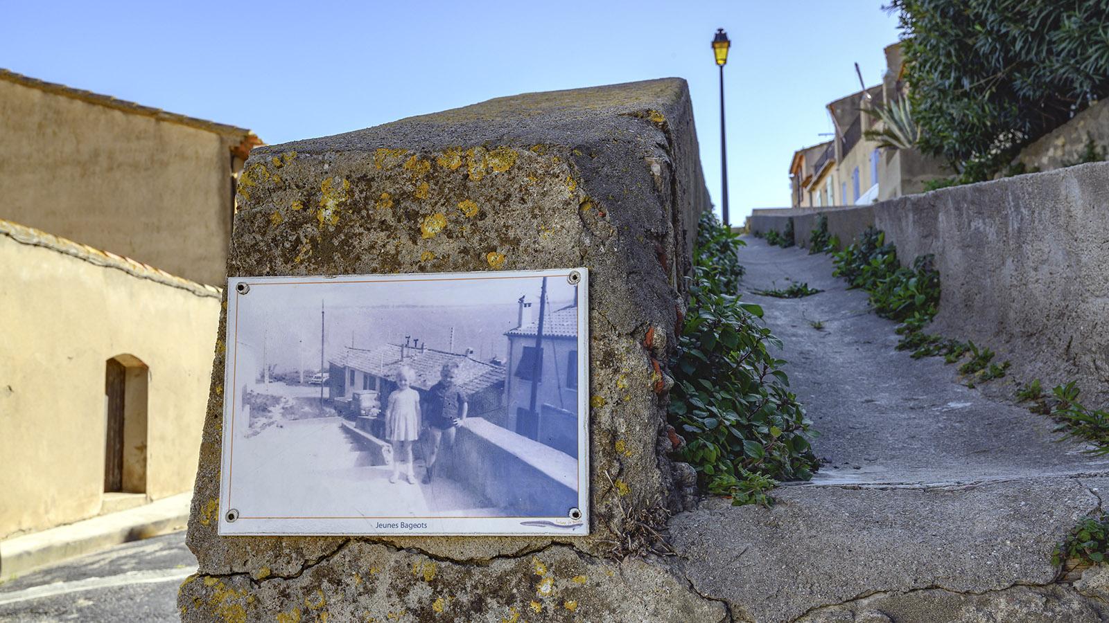In Bages erinnern Fotografien an das Leben von einst. Foto: Hilke Maunder