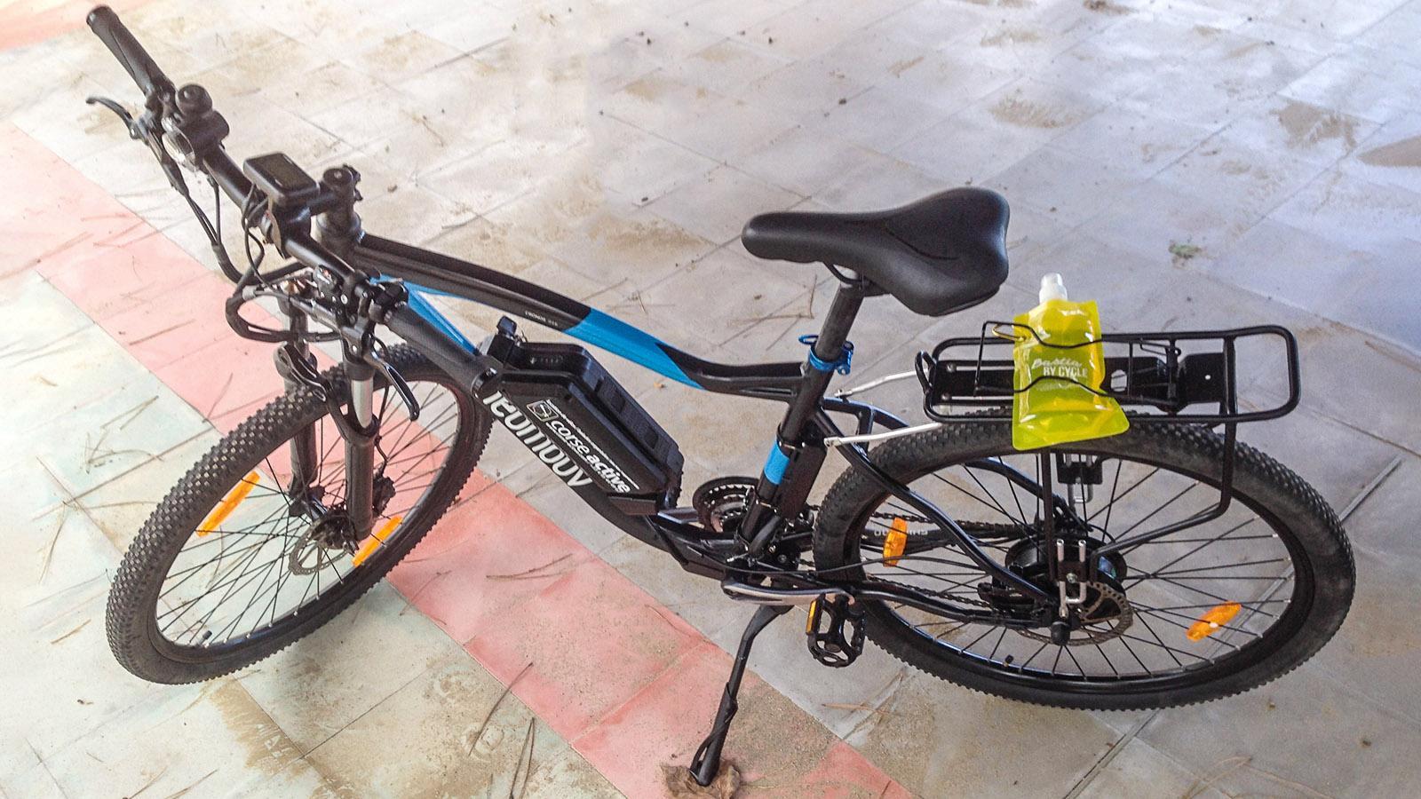 Typisches E-Bike im Verleih von Biguglia. Foto: Hilke Maunder