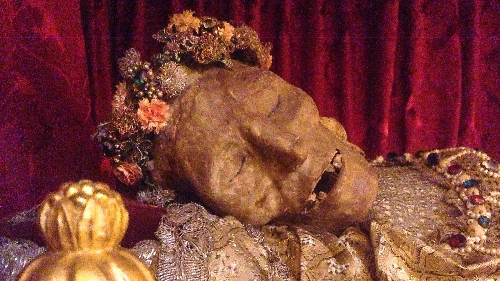 Saint-Florent: Die Reliquie des Heiligen Florians. Foto: Hilke Maunder