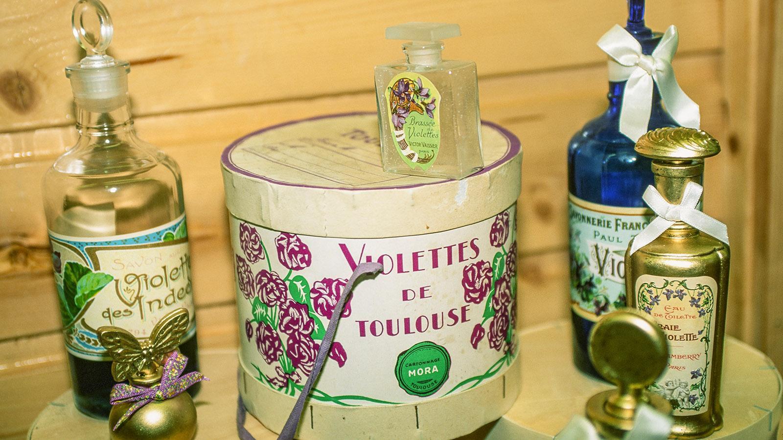 Veilchen-Produkte der Maison de la Violette. Foto: Hilke Maunder