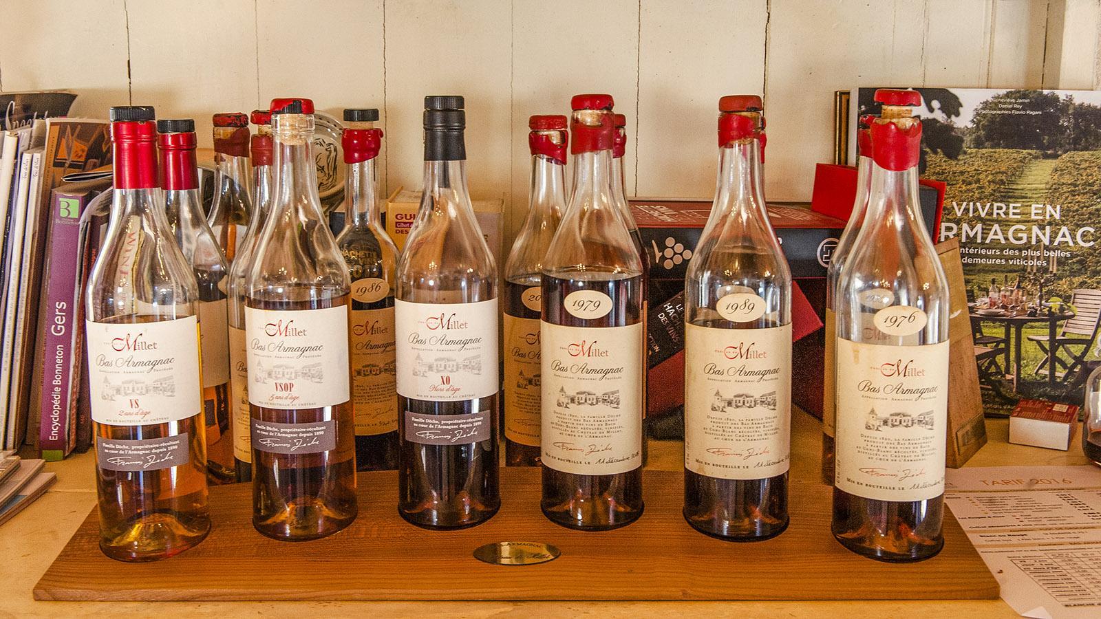 Château de Millet: eine Auswahl des Sortiments. Foto: Hilke Maunder