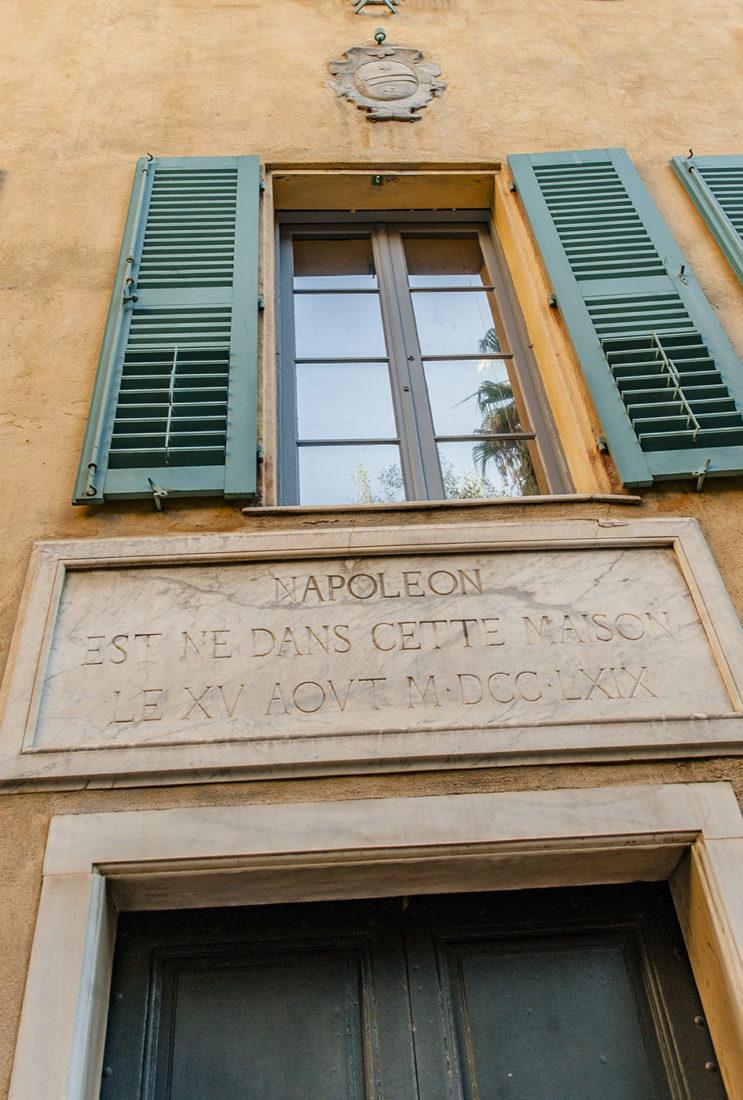 Das Geburtshaus von Napoleon in Ajaccio. Foto: Hilke Maunder