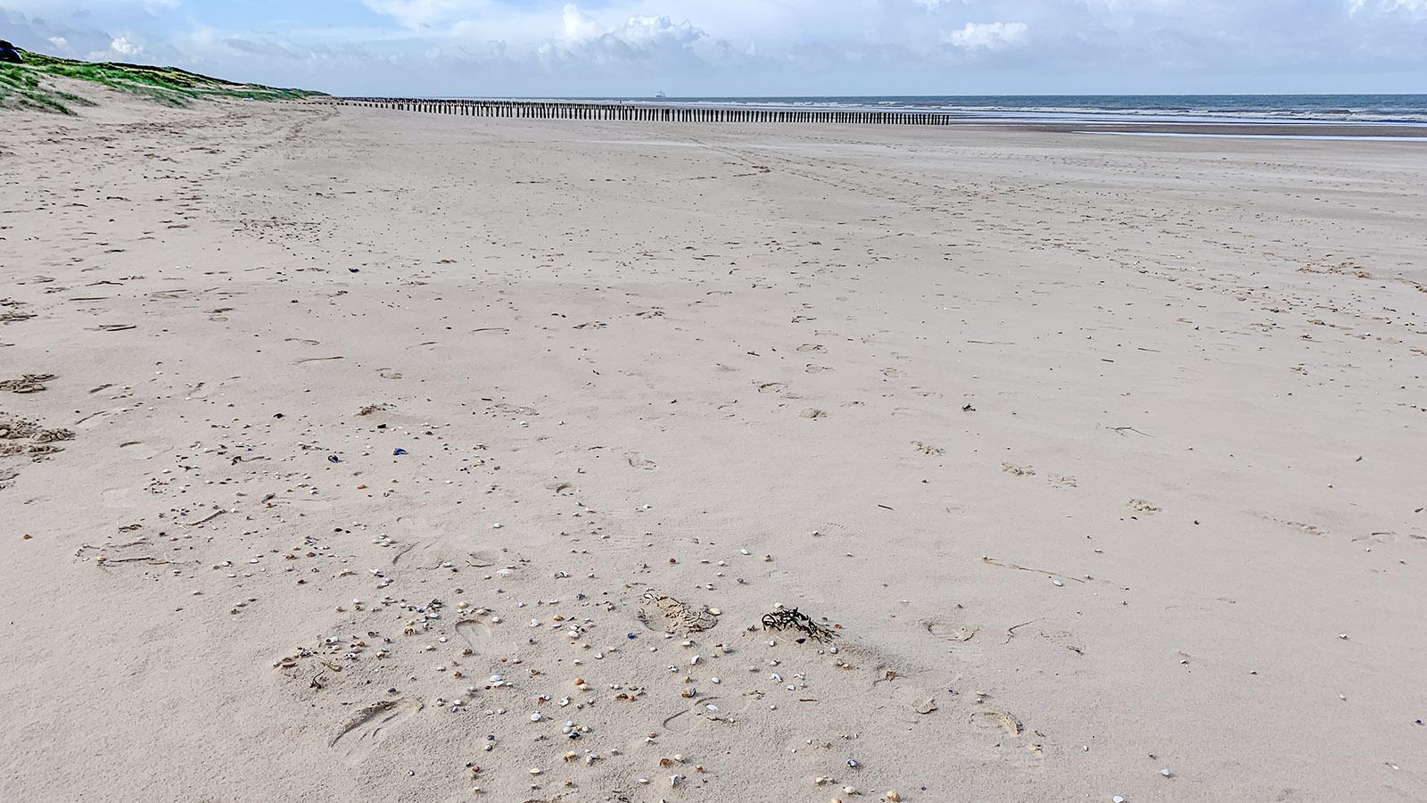 Einsam und weit: die Strände der Opalküste wie hier bei Blériot-Plage. Foto: Hilke Maunder