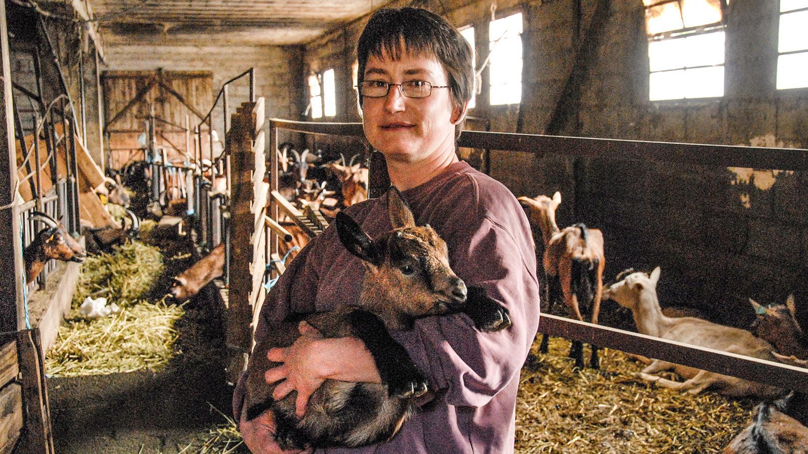 Ziegenzüchterin in den Cevennen. Foto: Hilke Maunder