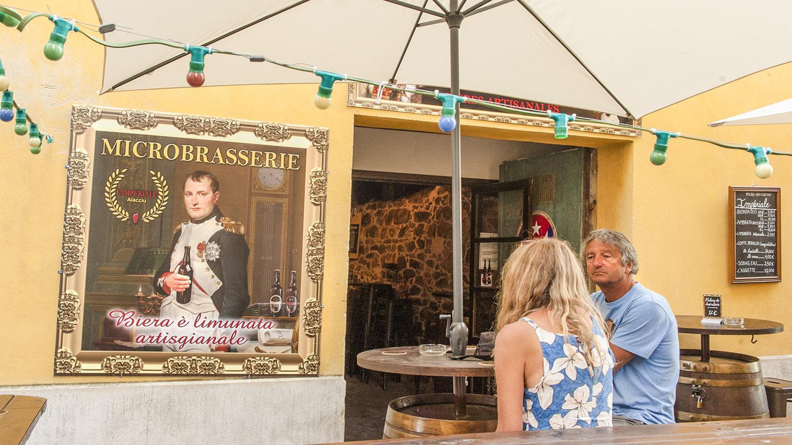 Napoleon allerorten in Ajaccio, auch bei der Mikrobrauerei Impériale. Foto: Hilke Maunder