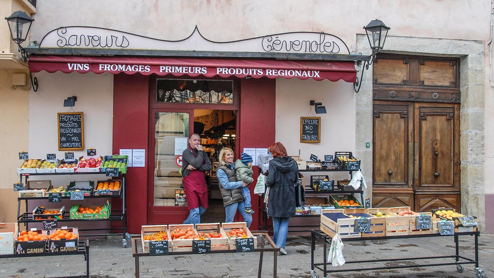 Dieser Laden in Le Vigan hat sich auf die regionalen Genüsse der Cevennen spezialisiert. Foto: Hilke Maunder
